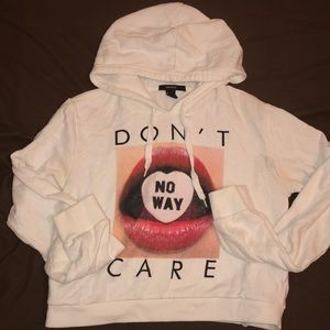 Cropped Sweater Hoodie